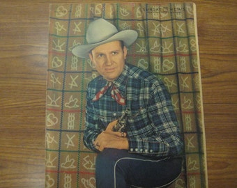 Gene Autry, Singing Cowboy, Roto Cover, 1942