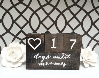 wedding countdown blocks day countdown wedding blocks engagement gift ...