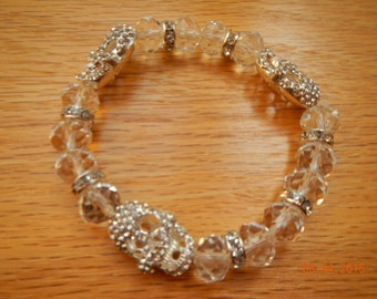 Swarovski Crystal Skull Bracelet