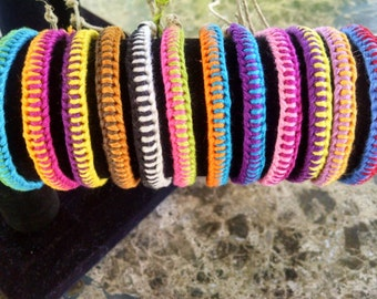 Zipper Pattern Friendship Bracelet