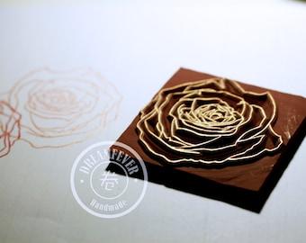 Handmade Stamp - Rose