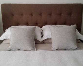 FREE DELIVERY* on queen size upholstered linen bedhead with tufted headboard detail
