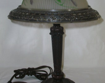 Vintage Reverse Painted Lamp