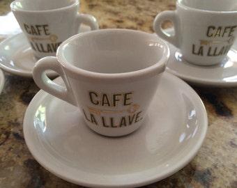Cafe La Llave Espresso Demi Tasse Set of 4