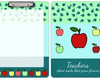 Decorative Flat Clip Clipboard Teacher 5 Apples