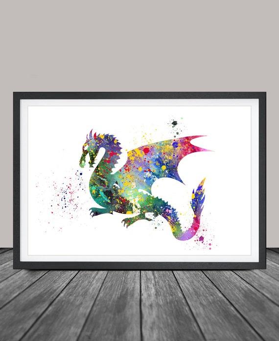 Dragon Painting Wall Art Picture Dragon Art Print Dragon
