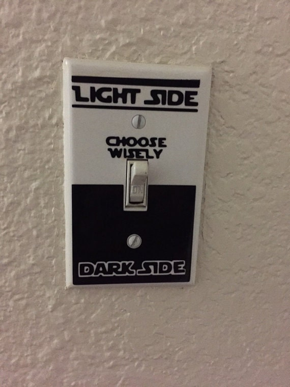 White Light Switch Cover With Star Wars Decal By Raddecals