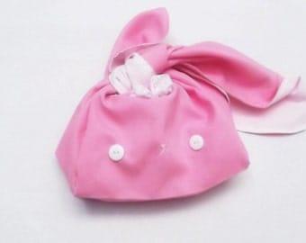 Kawaii bunny bento bag (pink)
