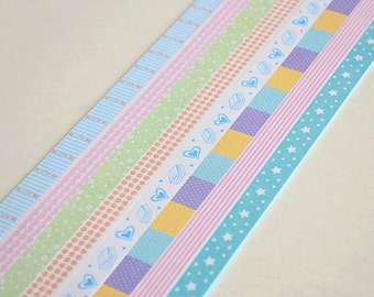 Origami Lucky Star Folding Paper Assorted Pattern - Pack of 160 Strips - Stars,Hearts,Dots,Flower,Striped