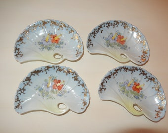 HAND PAINTED VICTORIAN Bone  Dishes