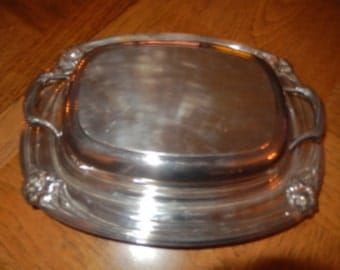 DAFFODIL 1847 ROGERS BROS Serving Dish with Lid