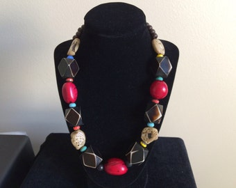 Tagua nut necklace ~