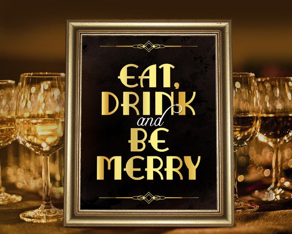 Christmas Party Decorations Eat Drink And Be Merry Great