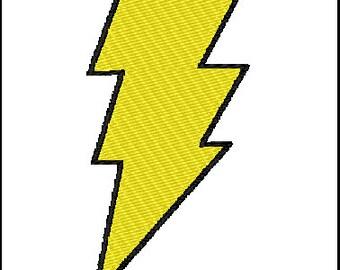 Captain Marvel Lightening Bolt Embroidery Design