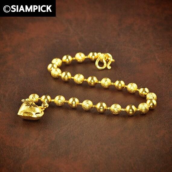 Thai Gold Necklace: Thai Gold Jewelry Chain Bracelet Charm Bracelet Yellow By