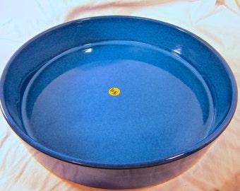 Round Suiban - Circular Vintage Ikebana Vase - Black