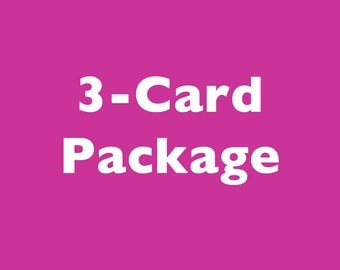 Choose Any Three Cards For a Discount!