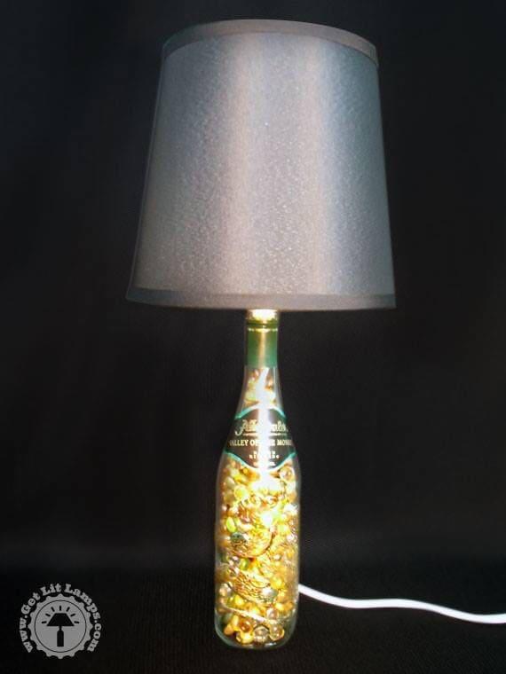 Valley of the Monkey wine bottle lamp