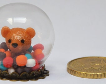 Globe teddy bears and candy