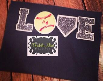 Softball Love Tshirt