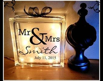 Mr & Mrs. Wedding Block / Groom and Bride Block / Newly Married/ Marriage Block / Anniversary / Personalized / Custom