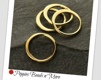 Extra-Small Natural Bronze Circle Link - Wholesale - 10 pieces