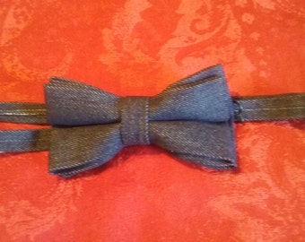 Dark Denim Bowties
