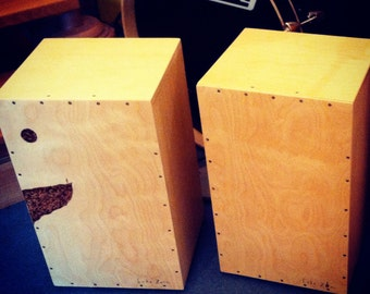 Cajon crafted, Birch wood, hand-decorated, handmade percussion, drum, drums, percussion, birch, handmade drum, made in Italy