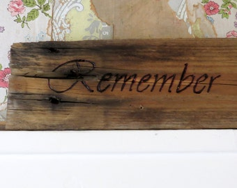 Remember Wall Hanging