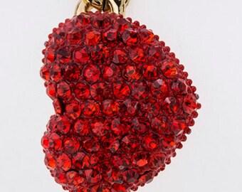 Crystal Heart Chain Bracelet