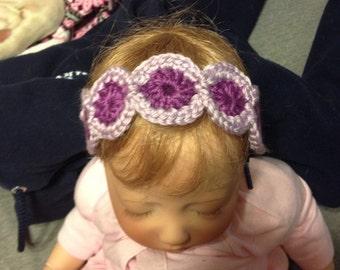 Custom Two color crochet headband