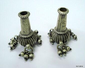 vintage antique tribal old silver beads necklace bracelet elements