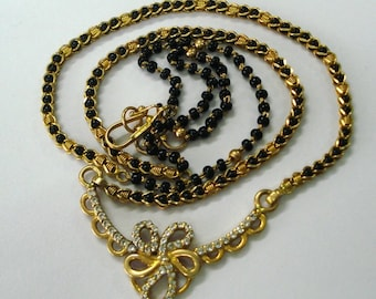 vintage 20k gold mangalsutra chain necklace handmade jewelry