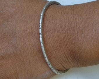 vintage antique ethnic old silver bangle bracelet tribal belly dance jewelry