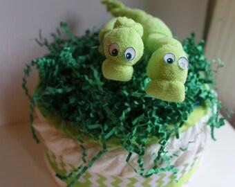 Dinosaur Diaper Cake - 1 tier
