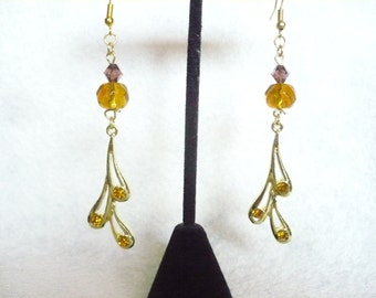 Amber fantasy earrings