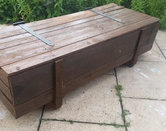 Unique handmade coffee table. Made from 100% reclaimed palletwood/timber/crate.