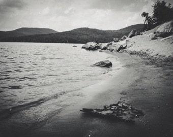 Original black and white digital print 'Sacandaga Lake'