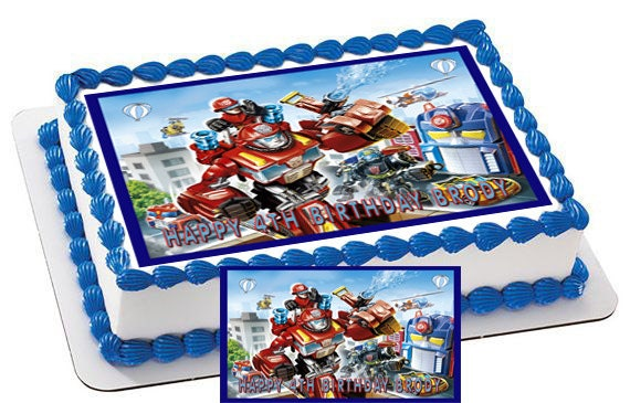 Transformers Rescue Bots Edible Cake & by CakeTopperSpecialist