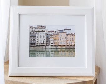 5x7 Fine Art Print of Houses along the Arno River in Florence, Italy