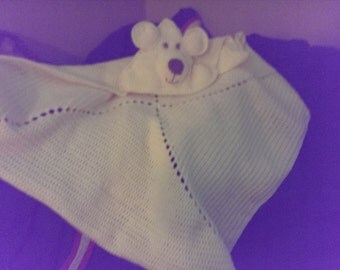 Baby's 1st Hooded Blanket-Teddy Bear