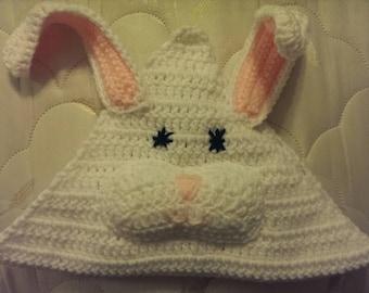 Baby's 1st Hooded Blanket-Rabbit