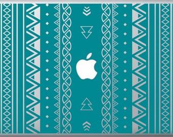 Vertical Aztec Stripes MacBook Decal