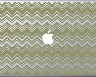 Whimsical Chevron Stripes MacBook Decal