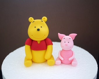 Pooh Cupcake Topper Etsy