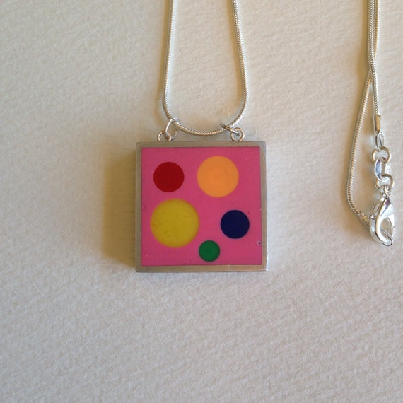 Knitting Needle Gauge Necklace : Knitting needles in resin pendant necklace by billybibbit