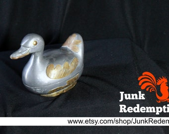 Pewter Duck trinket box