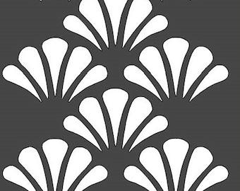 Scallop Shell Stencil - 12x12
