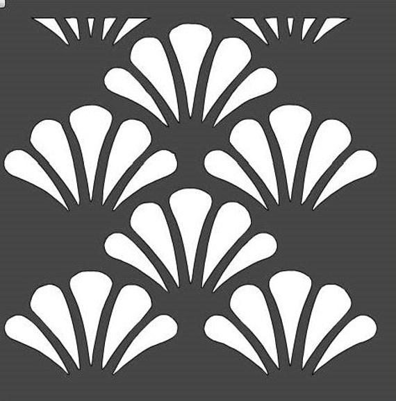 Scallop Shell Stencil 12x12 By Houseofdavis On Etsy