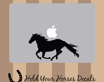 Running Horse - Macbook Decal Vinyl Sticker Laptop Apple Computer Horse Pony Riding Car Window Truck Decal Rodeo Computer Decal Animal